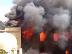Coptic Christian Churches Burning in Egypt by Islamists