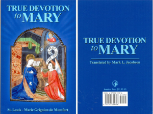 True Devotion to Mary Saint Louis Grignion de Mondfort