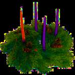 Advent Wreath Transparent Square Pic