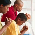 Black Family Praying Square Pic