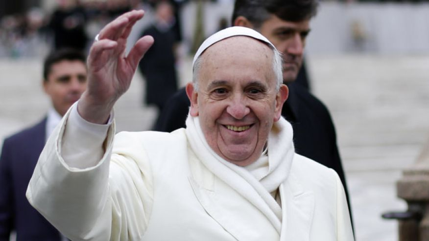 Pope Francis Warm Clothing Wide Pic