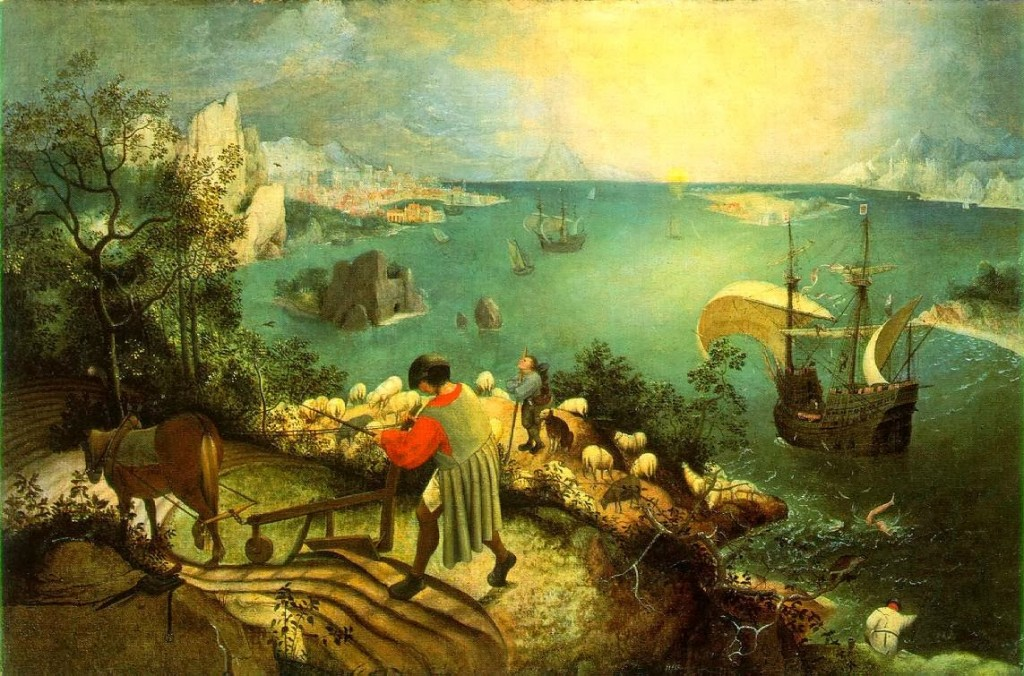 Pieter Bruegel the Elder - Landscape with the Fall of Icarus Furrow