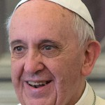 Pope Francis Smiling to the Left Square Pic