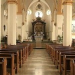 Beautiful Simple Church Aisle View Wide Pic