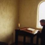 Lecto Divina Monk Praying Wide Pic
