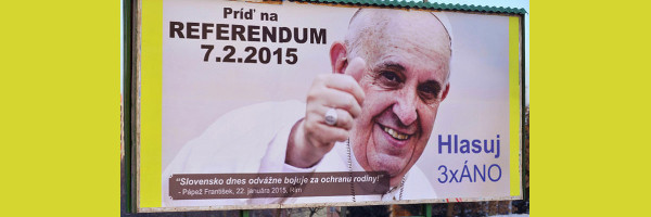 Pope Francis Billboard Wide Pic