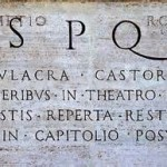 Latin Language SPQR Original Pic