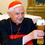 Pope Benedict Drinking Beer Square Pic