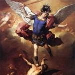 Saint Michael the Archangel Defeating Lucifer Square Pic