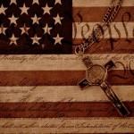 American Flag Benedictine Crucifix Cross We the People Motto