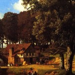 Beautiful Country Home Painting Wide Pic