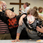 Bible Camp Catholic Youth Young Adult Fun Pie in Face