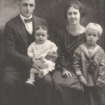 Vintage Family Black and White Tall Pic