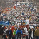Pro Life March for Life Parade Demonstration Wide Pic