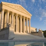 US Supreme Court Front Entrance to Building Wide Pic