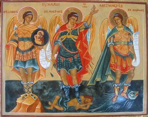 Archangels Gabriel Michael and Raphael
