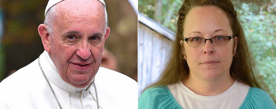 Pope Francis and Kim Davis Getty Images