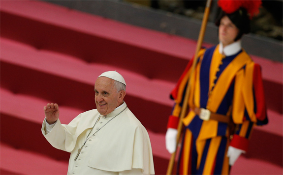 Pope Francis and Swiss Guard
