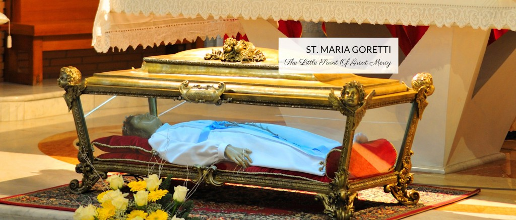 Saint Maria Goretti Reliquary
