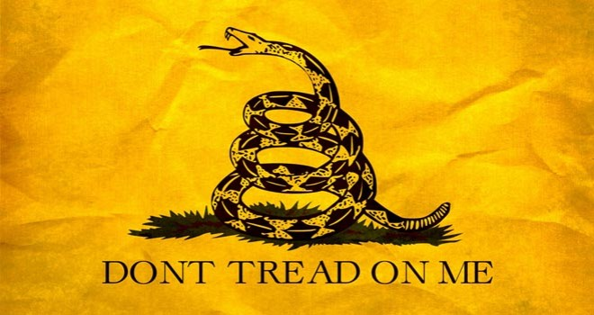 Dont Tread on Me Yellow Snake Flag Freedom Liberty American